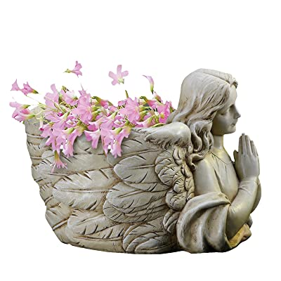 Jospehs Studio Garden Planter, 68437, Angel Bust with Hands Clasped, 8.25 inches diameter : Outdoor Statues : Garden & Outdoor