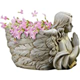 """Joseph's Studio by Roman - Collection, 6.5"""" H Angel Wing Planter, Made from Resin, High Level of Craftsmanship and Attention"""