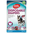 Simple Solution Disposable Female Dog Diapers, Medium (Pack of 12)