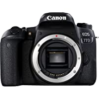 Canon EOS 77D 24.2MP Digital SLR Camera Body (Black) with 8GB Card and Bag
