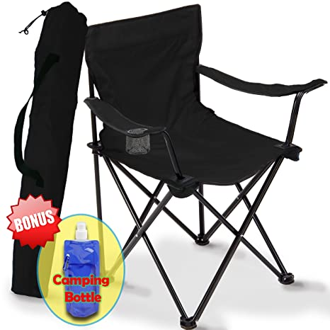 Superb Folding Camping Chair Portable Carry Bag For Storage And Travel Best Durable Outdoor Quad Beach Chairs Comfortable Arms Space Saving Lightweight Inzonedesignstudio Interior Chair Design Inzonedesignstudiocom