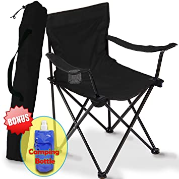 Folding C&ing Chair Portable Carry Bag for Storage and Travel Best Durable Outdoor Quad  sc 1 st  Amazon.com & Amazon.com : Folding Camping Chair Portable Carry Bag for Storage ... islam-shia.org