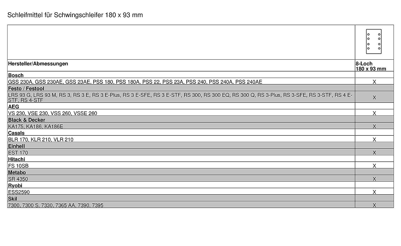 METABO 93x230mm 10x Schleifpapier Schwingschleifer Korn40