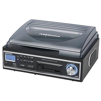 Medion MD 83447 - Tocadiscos con USB, reproductor de casetes ...