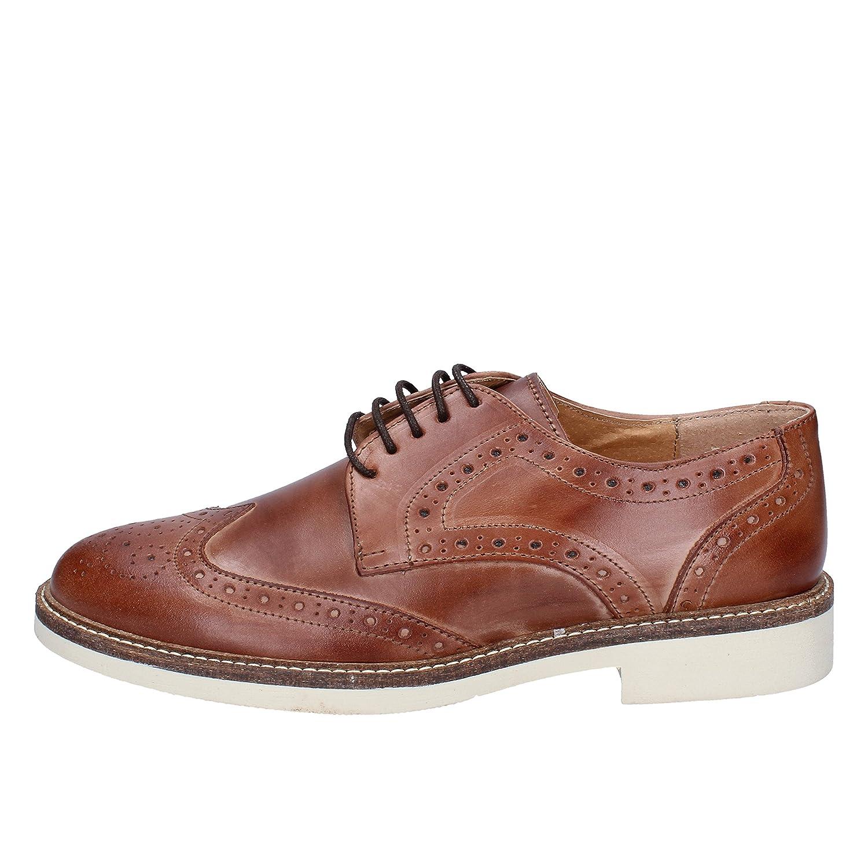 SALVO FERDI, Chaussures de ville à lacets pour homme - Marron (cuoio), 44 EU