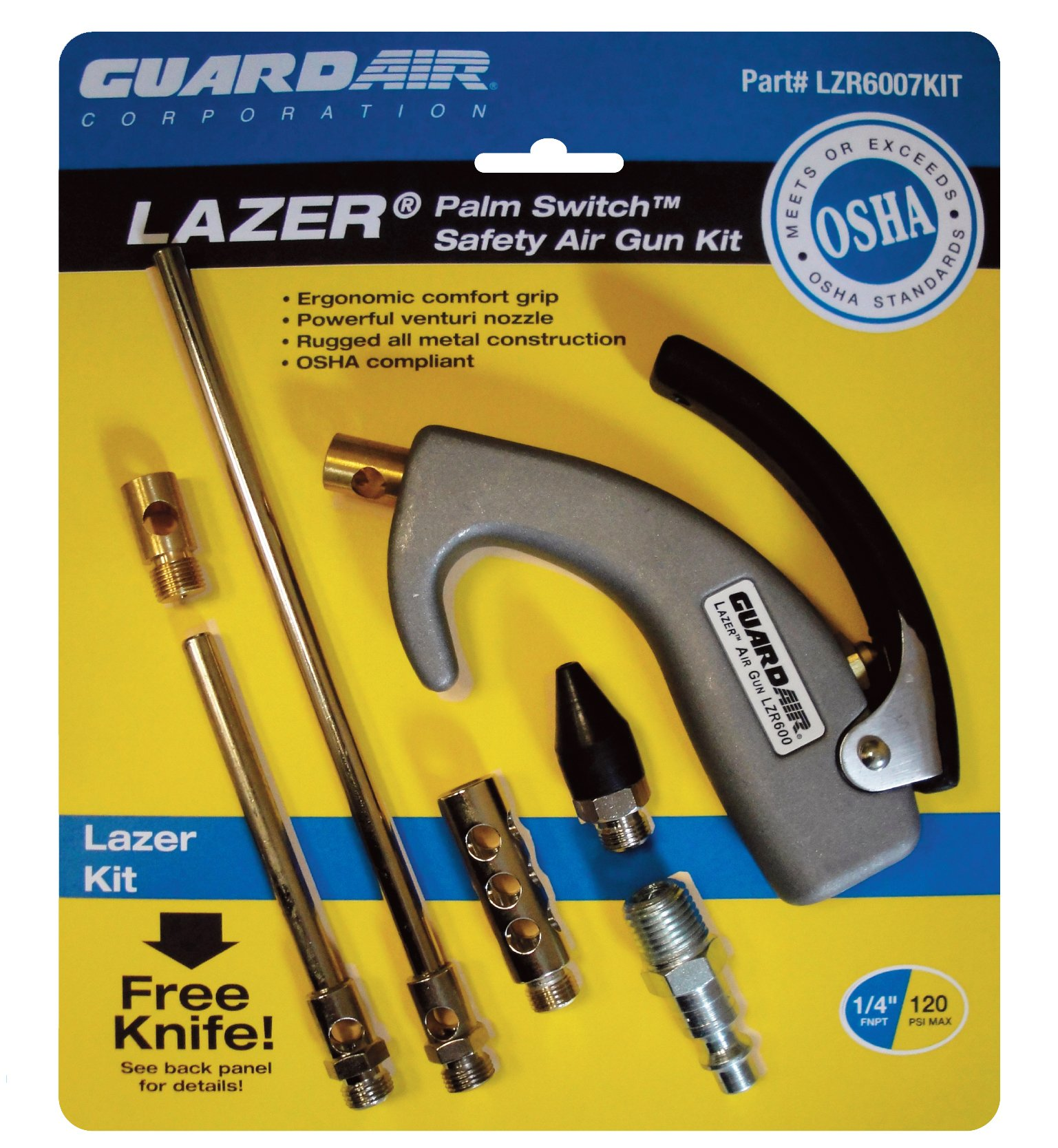 Guardair LZR6007KIT Lazer Palm Switch Safety Air Gun Kit