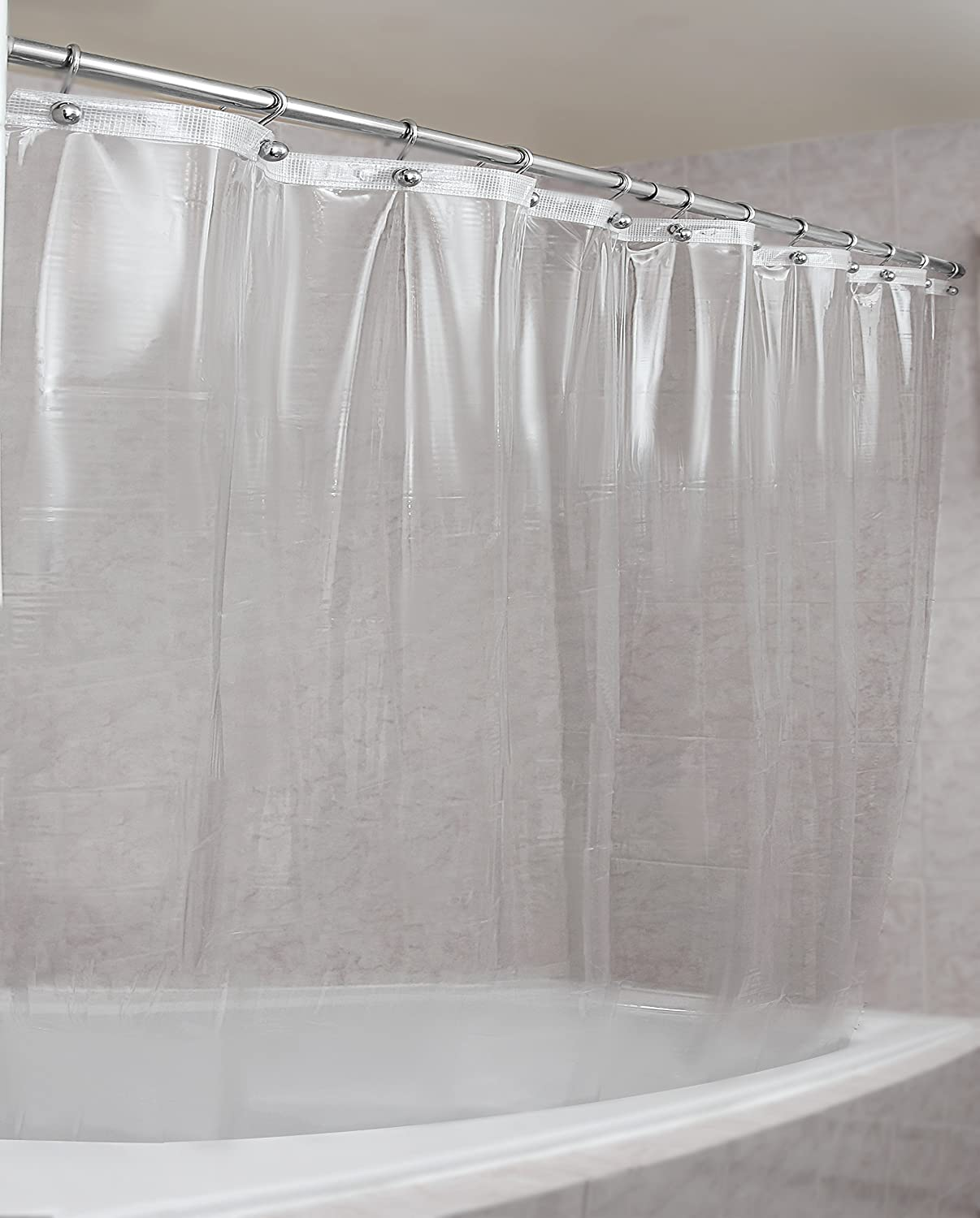 Strongest Mildew Resistant Shower Curtain Liner on the Market-100% Anti-Bacterial 10 Gauge Heavy Duty Liner-Waterproof