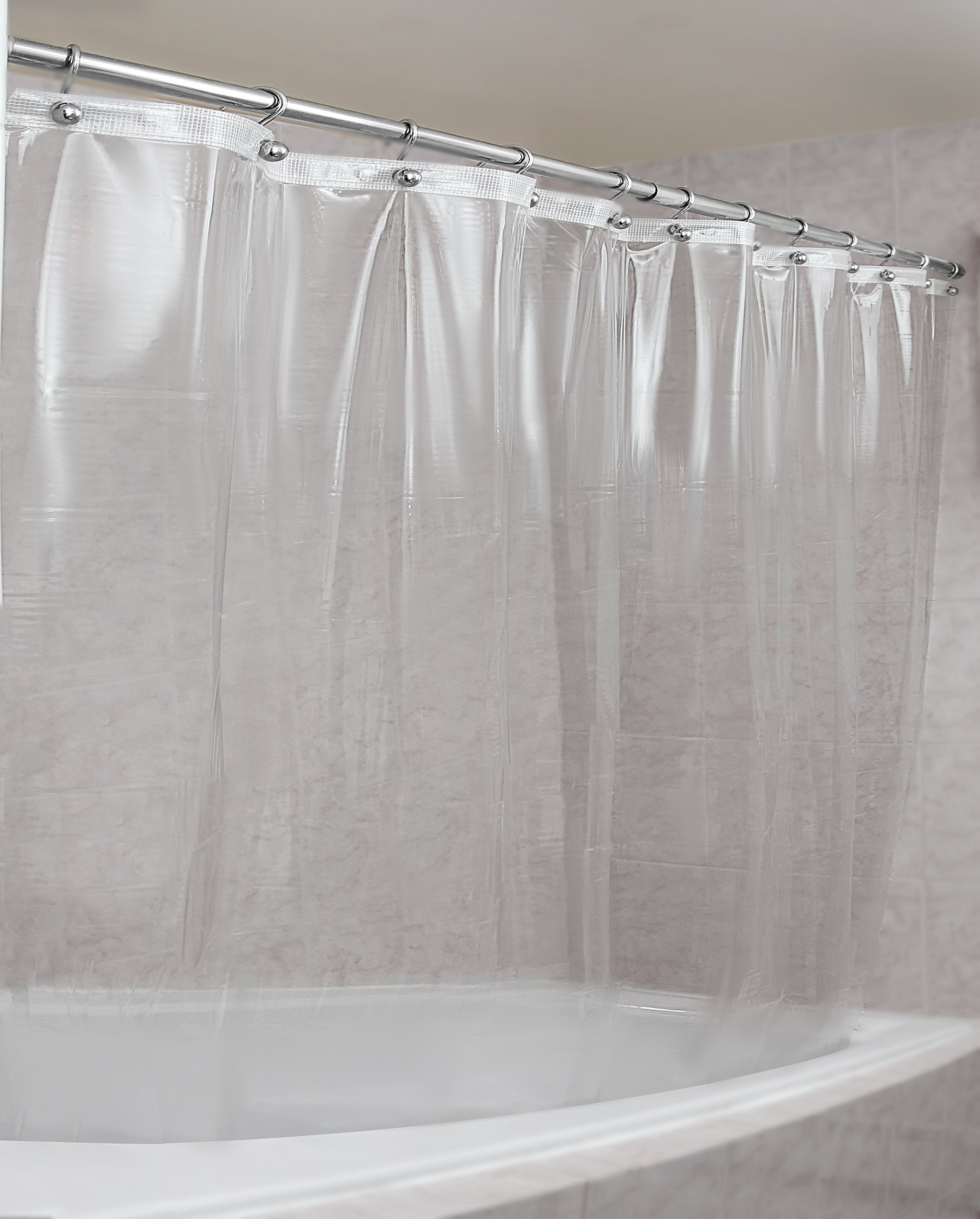 Epica MarketEpica Strongest Mildew Resistant Shower Curtain Liner On The Market 72 X Clear