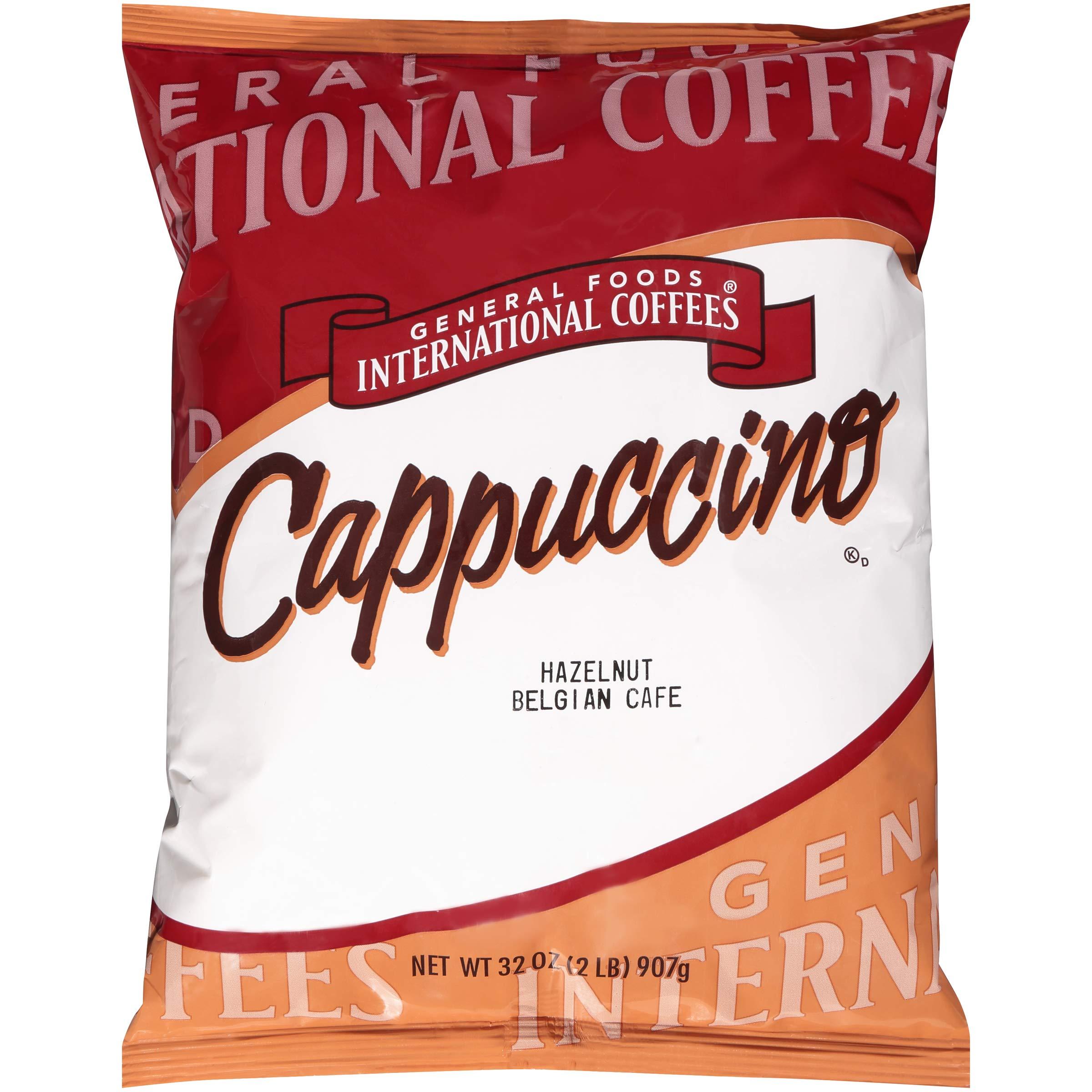 General Foods Hazelnut Belgian Instant Coffee Mix, 2 lb. bag (Pack of 6)