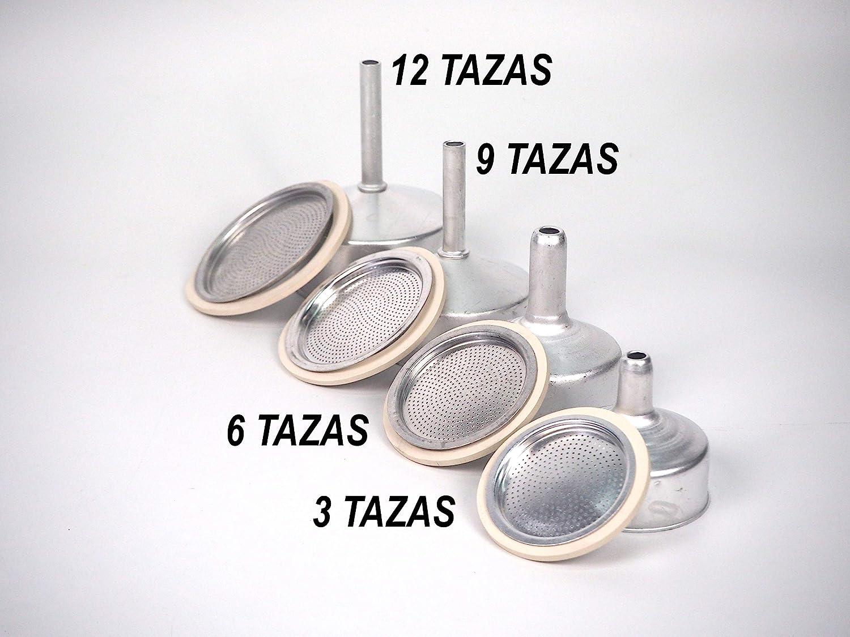 Sanfor Repuesto Cafetera Italiana 12 Tazas | Recambio Embudo + ...