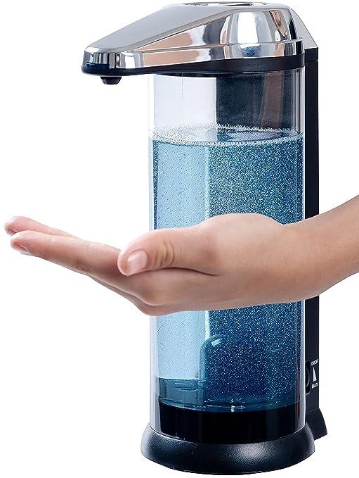 Secura Dispensador eléctrico e automático de jabón manos libres (Puede operar con baterías) 500ml