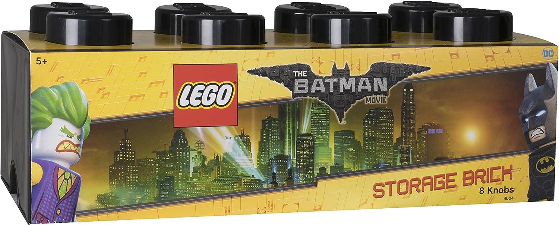 LEGO 4004 Ladrillo de Almacenamiento de 8 espigas Batman, Caja de almacenaje apilable, 12 l, Negro, 50 x 25 x 18 cm: Amazon.es: Hogar