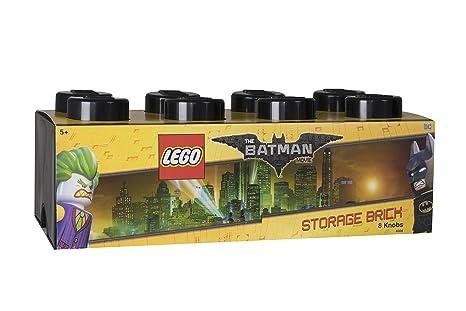 LEGO 4004 Ladrillo de Almacenamiento de 8 espigas Batman, Caja de almacenaje apilable, 12