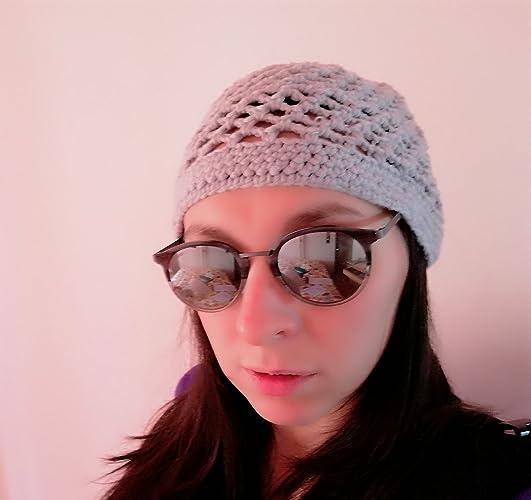 Cappello Uncinetto Fascetta Capelli Cappellino Traforato Donna