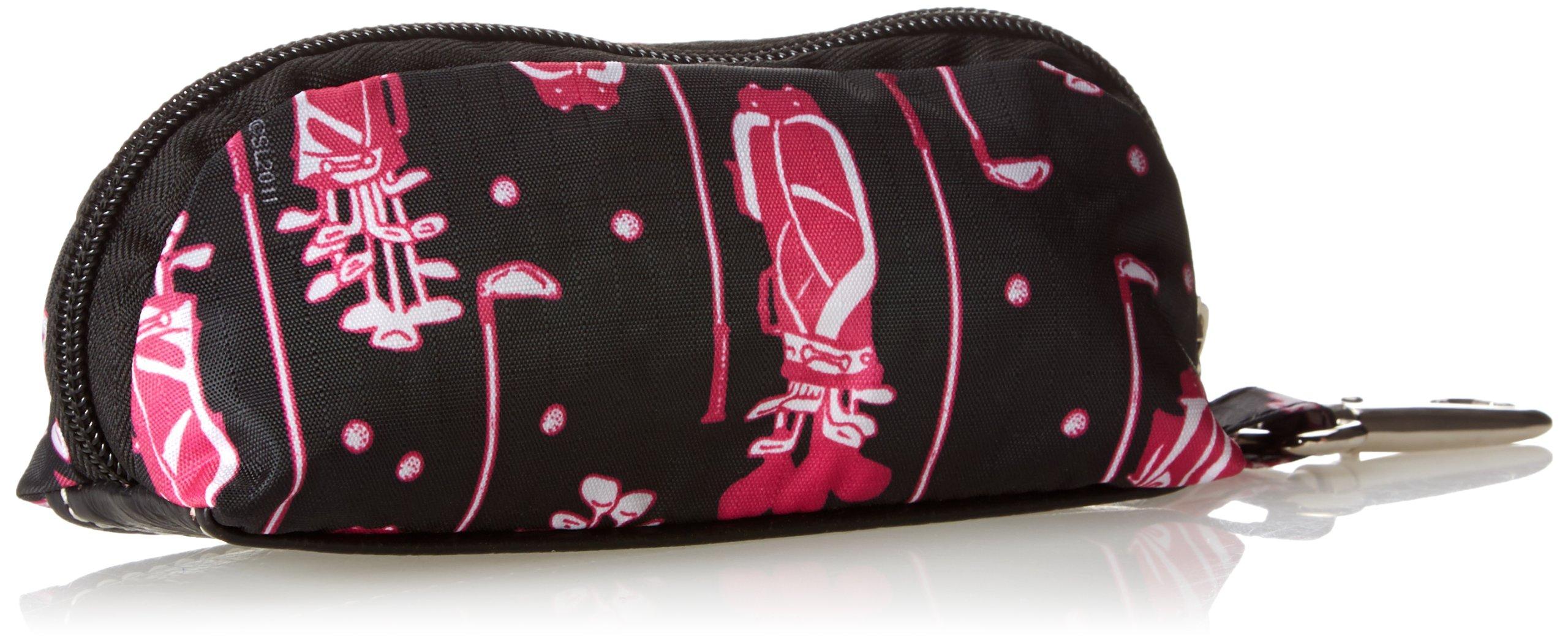 Sydney Love Fuchsia Golf Three Golf Ball Cosmetic Case,Multi,One Size by Sydney Love (Image #2)