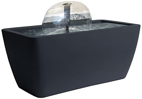 Algreen Manhattan Contemporary Slate Patio And Deck Pond Water Feature Kit  With Light, 50
