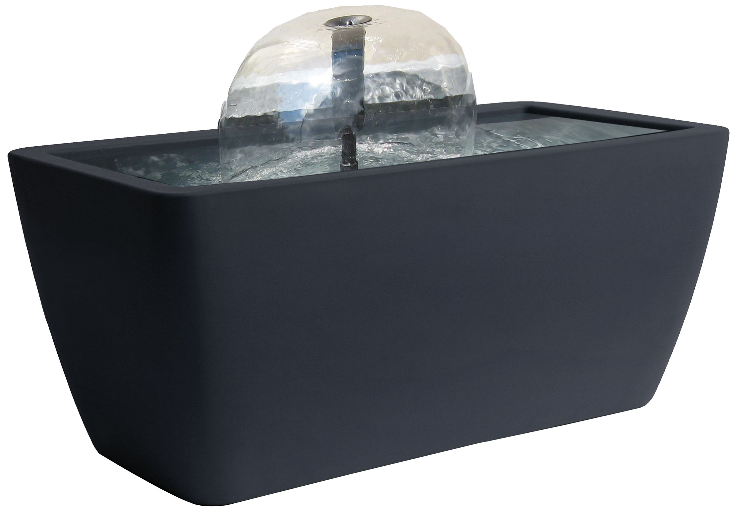 Algreen Manhattan Contemporary Slate Patio and Deck Pond Water Feature Kit with Light, 50-Gallon by Algreen