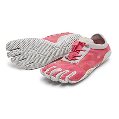 Vibram FiveFingers Women's KSO EVO Barefoot Shoes Pink / Grey 37 and  Premium Toesock Bundle
