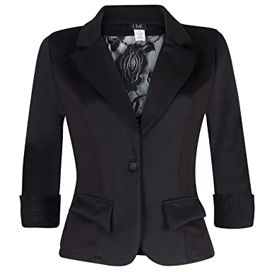 Women's 3/4 Sleeve Blazer with Sexy Lace back and Cuffs. Great ...