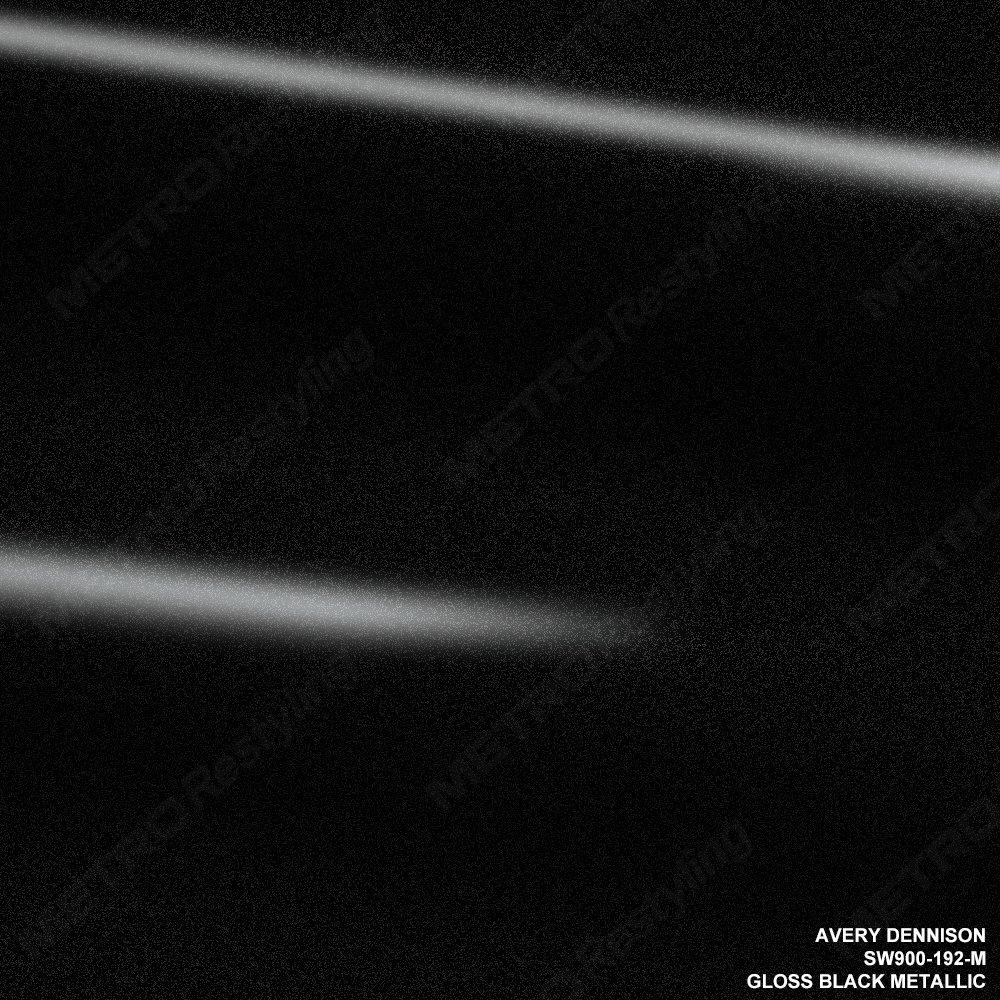 Avery SW900-192-M GLOSS BLACK METALLIC 5ft x 6ft (30 Sq/ft) Supreme Vinyl Car Wrap Film