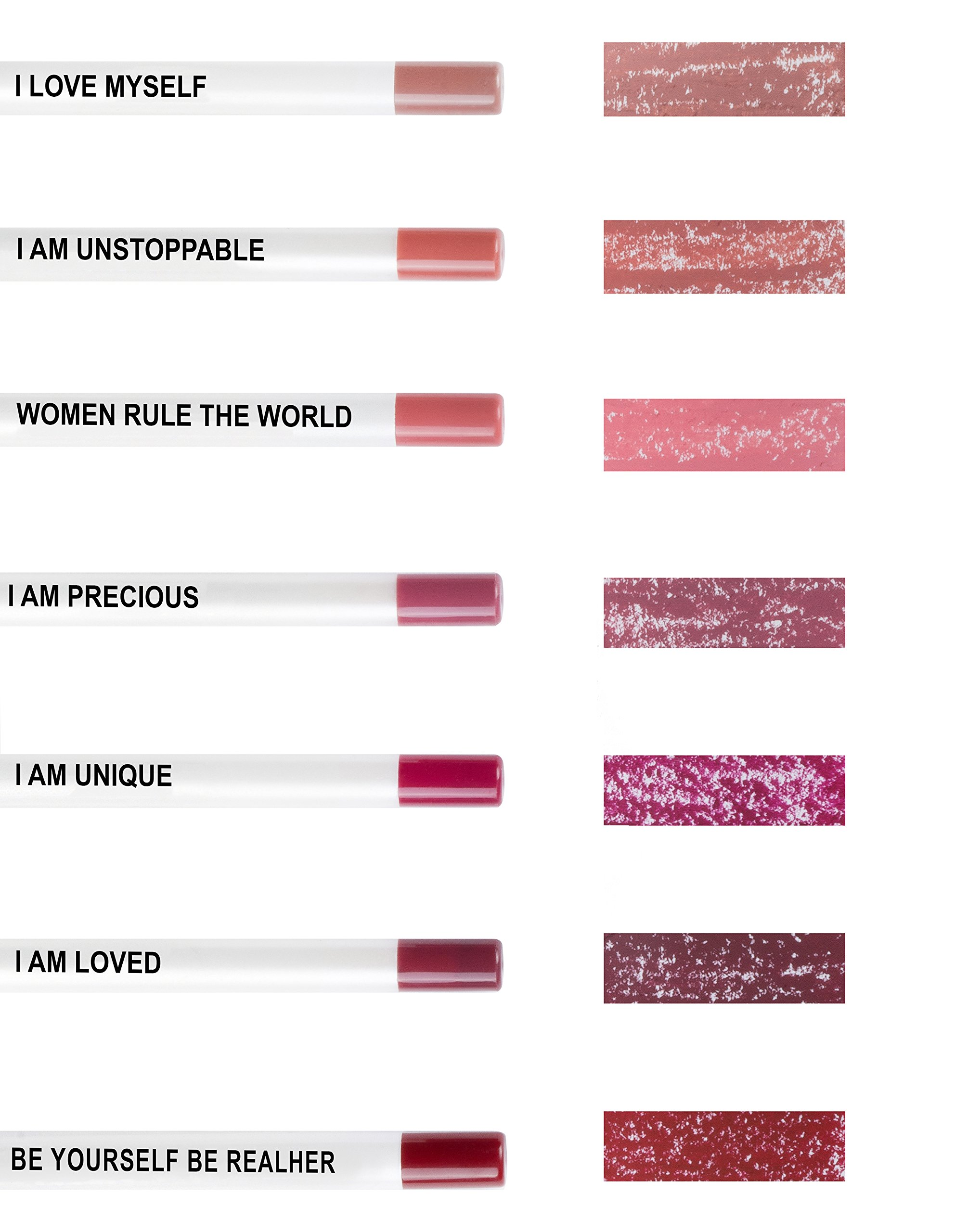 RealHer Defining, Anti-Feathering, No Bleeding, Wine Lip Liner - ''I Am Unique'' by RealHer (Image #2)