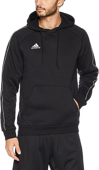 Adidas CE9068 Core 18 Hoodie Black//White Medium