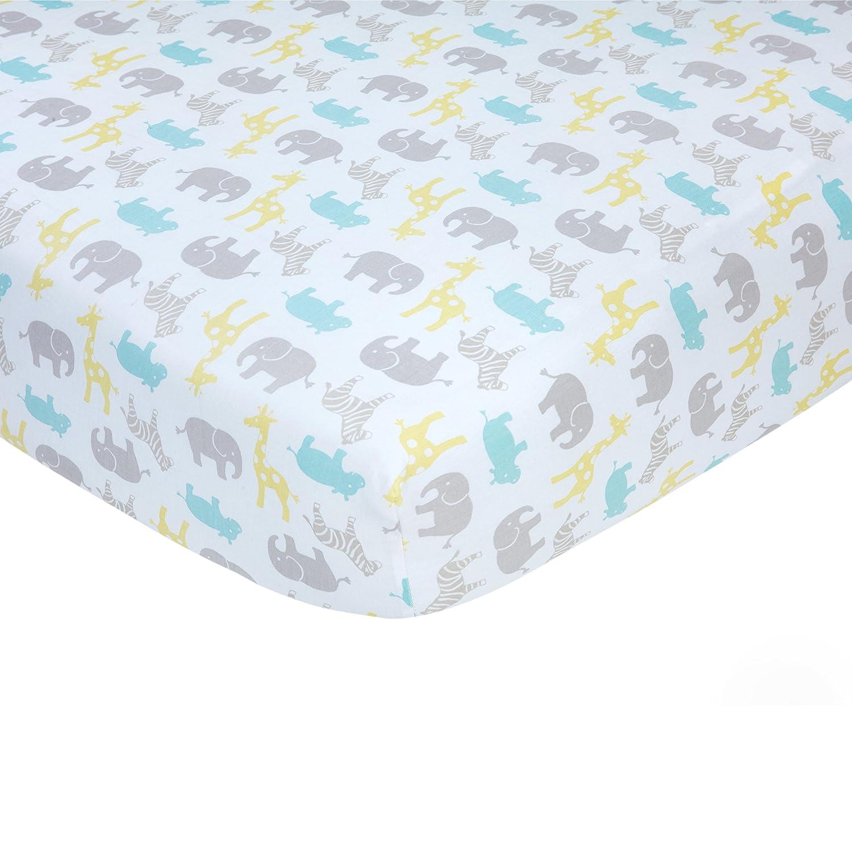 Carter/'s Sateen Crib Sheet Pink Elephant Print One Size