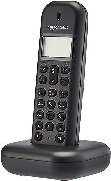 AmazonBasics - Teléfono fijo DECT, negro: Amazon.es: Electrónica
