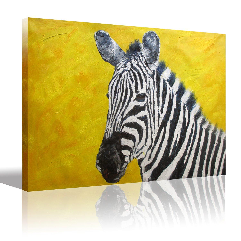 Amazon.com: 0594 Art Canvas Wall Art Large Animal Zebra Oil Painting ...