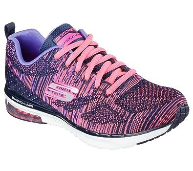 Skechers  12113 Damen Gymnastikschuhe blau navy - hot pink 38