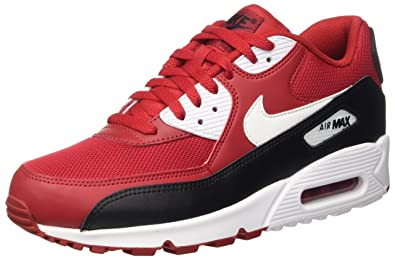 Nike Men's Air Max 90 Essential Shoe Red/Black/White