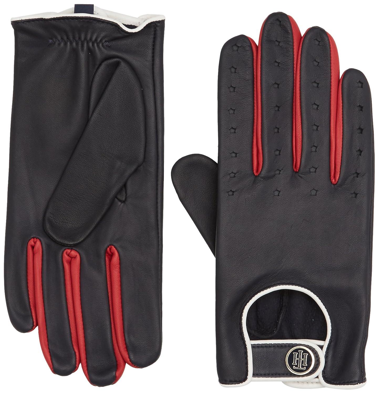 TALLA Medium (Talla del fabricante: M-L). Tommy Hilfiger Biker Leather Gloves, Guantes para Mujer