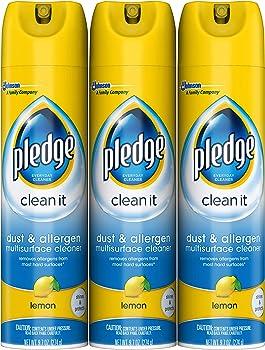 3-Pack Pledge Dust & Allergen Multisurface Cleaner 9.7 Oz