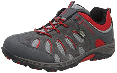 66857eb105 Merrell Chameleon Low Waterproof, Boy's Lace-Up Low Rise Hiking Shoes -  Multicolour (