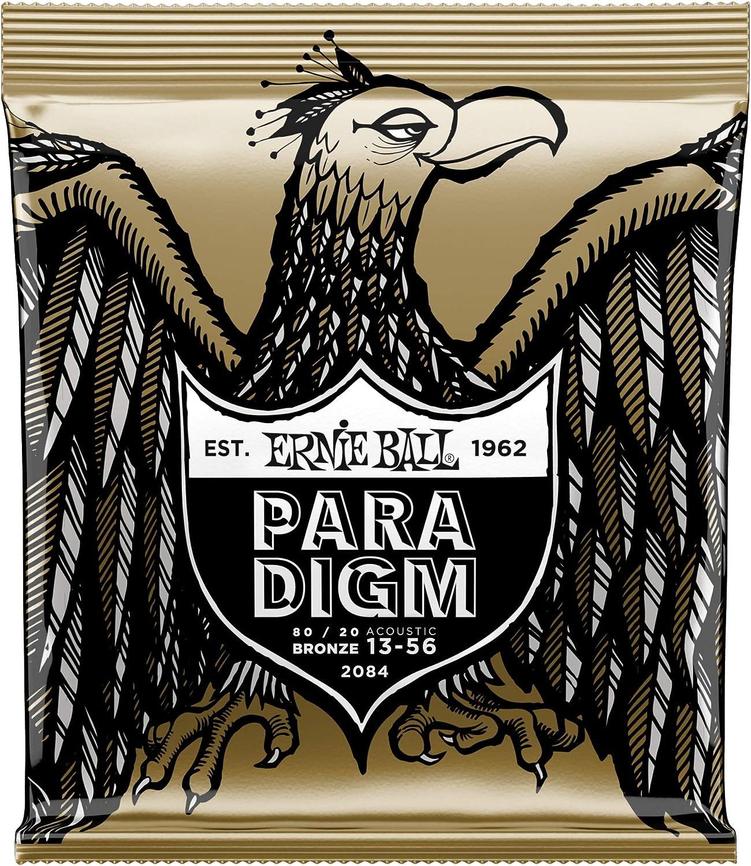 Cuerdas para guitarra acústica de bronce medio 80/20 de Ernie Ball Paradigm - calibre 13-56