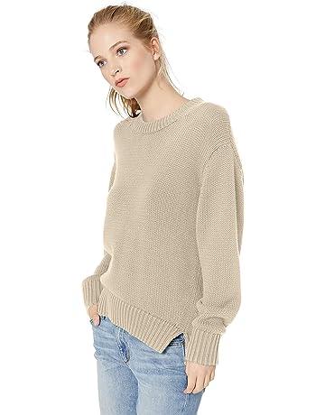 4c4dc8484c4480 Amazon Brand - Daily Ritual Women's 100% Cotton Chunky Long-Sleeve Crew  Sweater