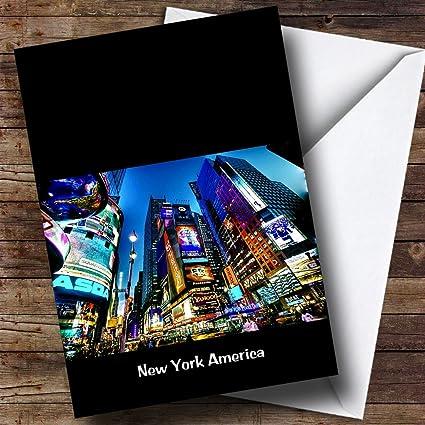 Nueva York América personalizado cumpleaños tarjeta de ...