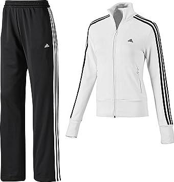 5d4881d07 adidas Ess 3SKNIT SUIT GIRLS Training Suit - Size: 32/XXS Equals 13/14yrs  (See Description): Amazon.co.uk: Sports & Outdoors