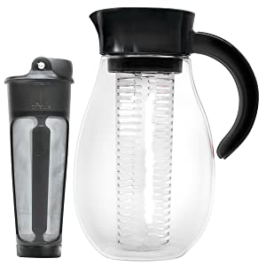 Primula PFUBK-3927 Flavor Up Cold Brew Maker & Infusion Pitcher, 2.7 quart, Black