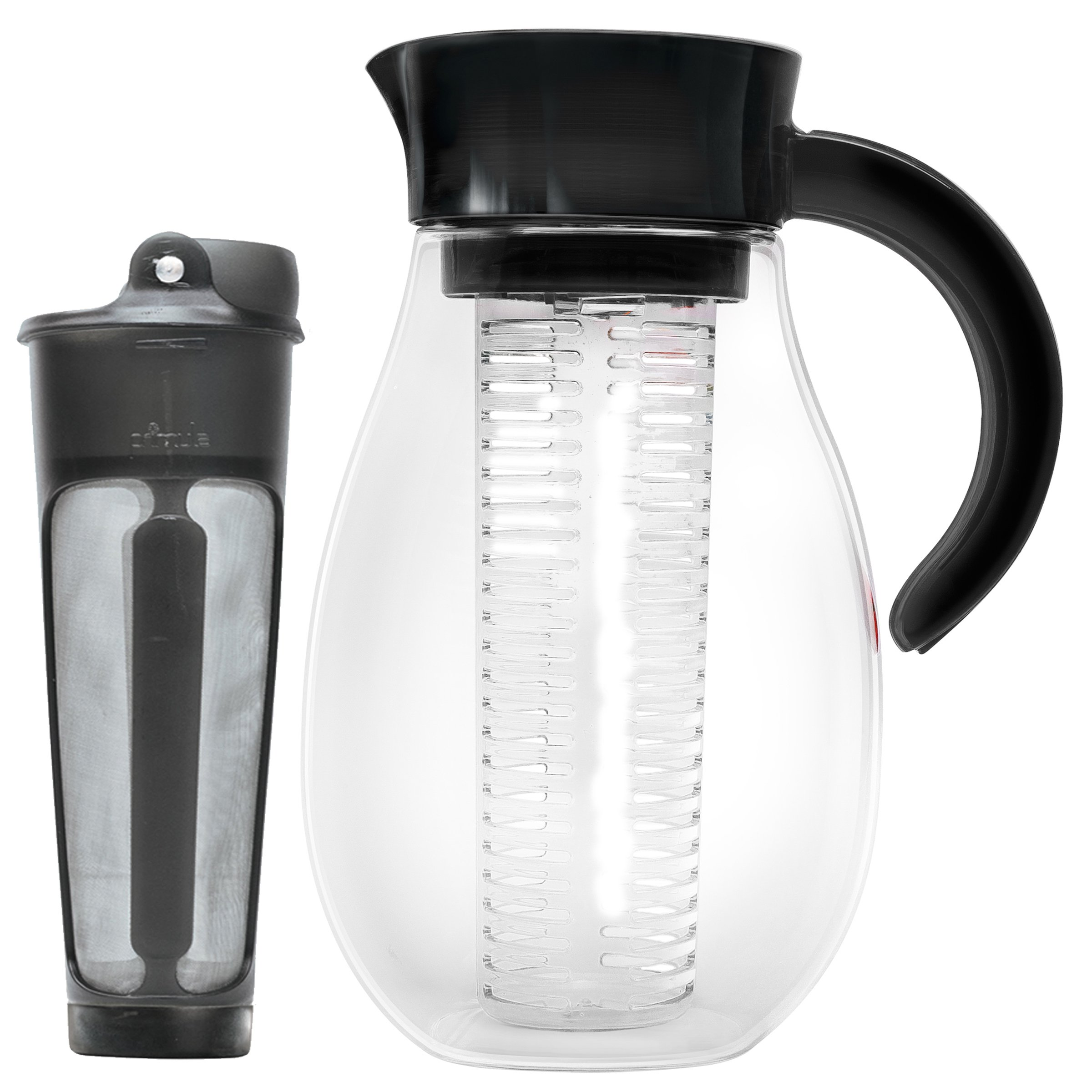 Primula PFUBK-3927 Flavor up Cold Brew Maker and Infusion Pitcher, 2.7 quart, Black