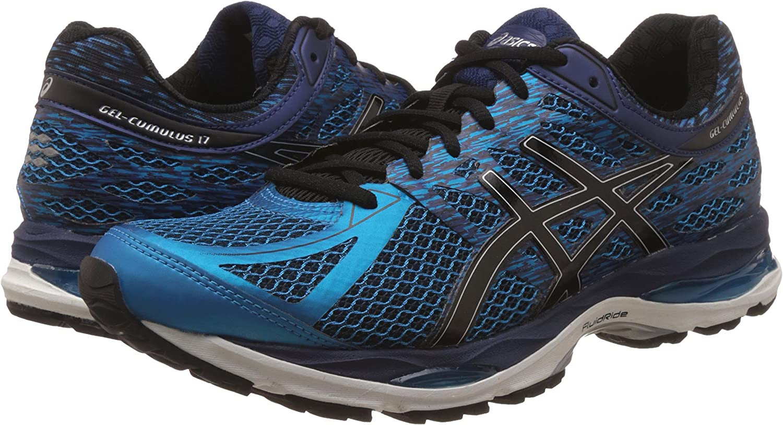 ASICS Mens Gel-Cumulus 17 Island Blue, Black and Indigo Blue Running Shoes - 8 UK/India (42.5 EU) (9 US): Amazon.es: Zapatos y complementos
