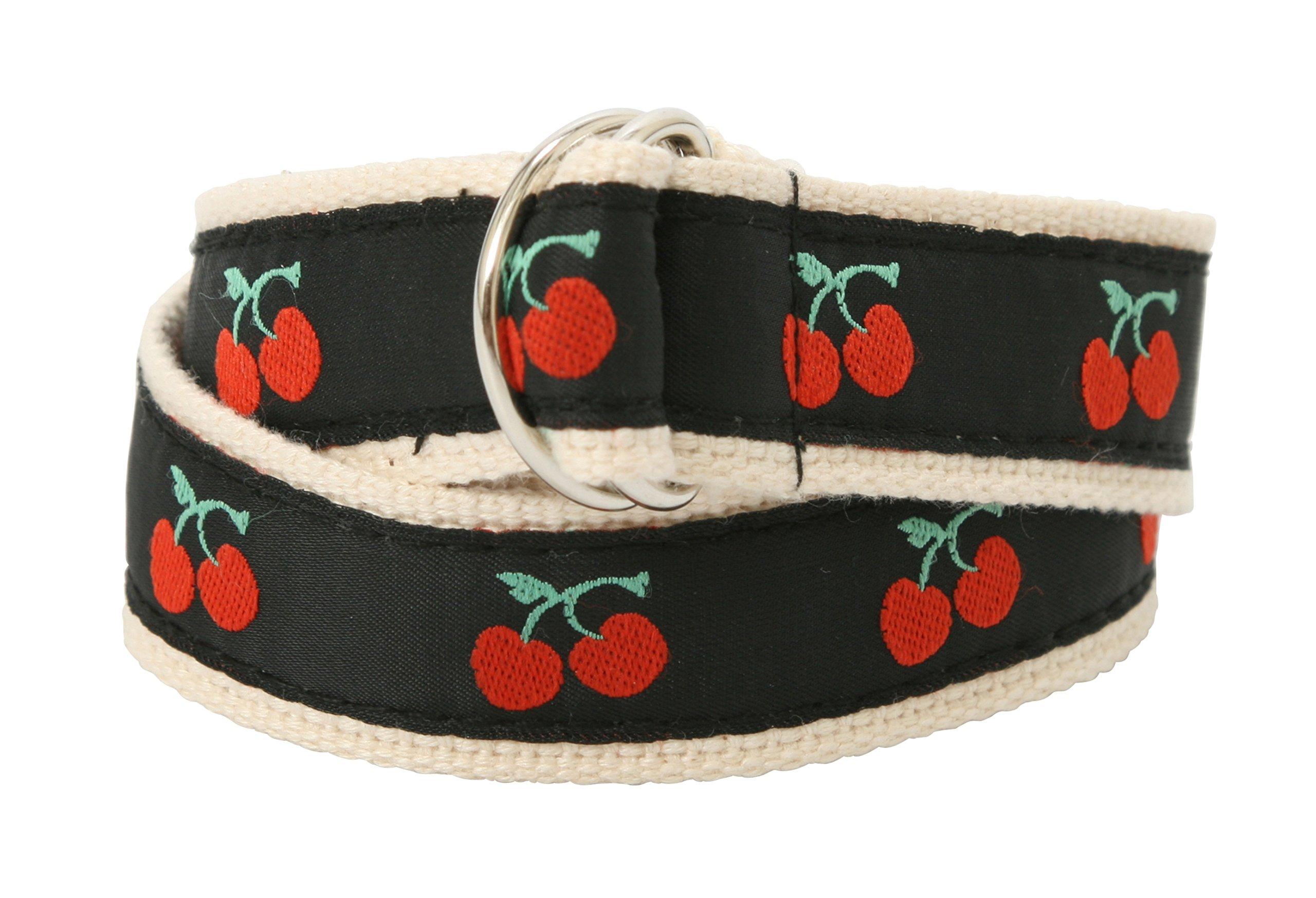 Bean Belts Girl Classic Cherry Belt (Large (Child Size 6-8))