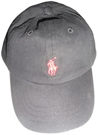 e723a20097e Amazon.com  Polo Ralph Lauren Baseball Cap Black   Red Pony  Clothing