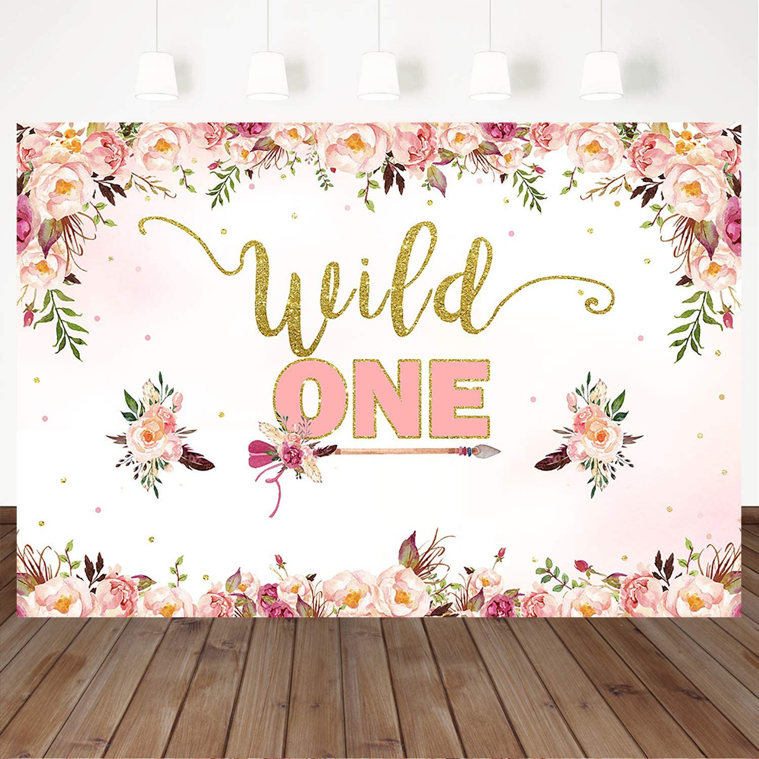 amazon com mocsicka wild one backdrop bohemian arrows girl s first birthday background 7 5ft vinyl pink floral 1st birthday party decoration photography background camera photo mocsicka wild one backdrop bohemian arrows girl s first birthday background 7 5ft vinyl pink floral 1st birthday party decoration photography