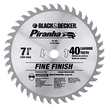 Black decker 67 757 7 14 inch 40 tooth bulk piranha saw blade black decker 67 757 7 14 inch 40 tooth greentooth Choice Image