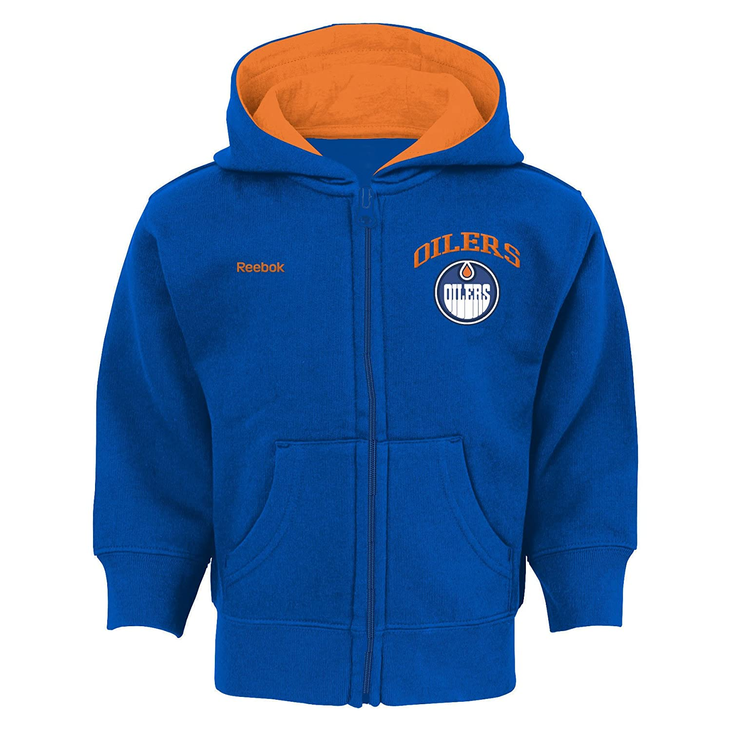 Edmonton Oilers Infant Pledge Full-Zip Fleece Hoodie - Size 18 Months Reebok