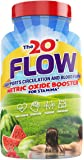 The20: Flow - Nitric Oxide Supplement - 60 Capsules - L-Citrulline from Organic Watermelon, Organic Spinach, and Organic…