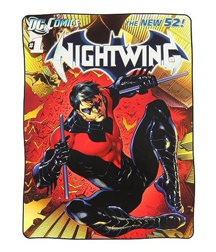 388b4a381d Amazon.com  DC Comics Batman Nightwing Super Plush Fleece Throw ...