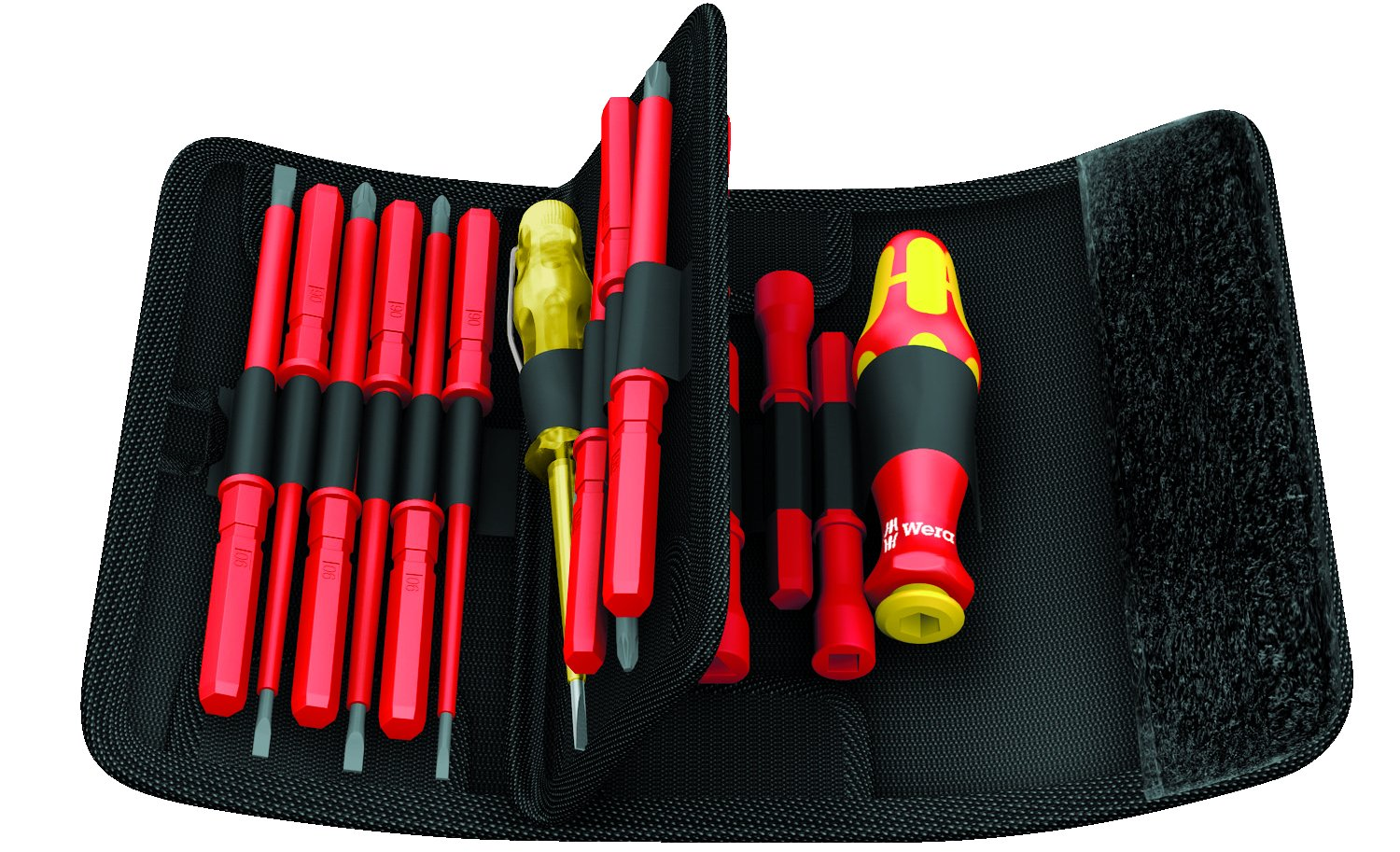 Wera KK VDE 60i/62i/68i/18 Insulated Pouch Set with Interchangeable Blades, 18-Piece