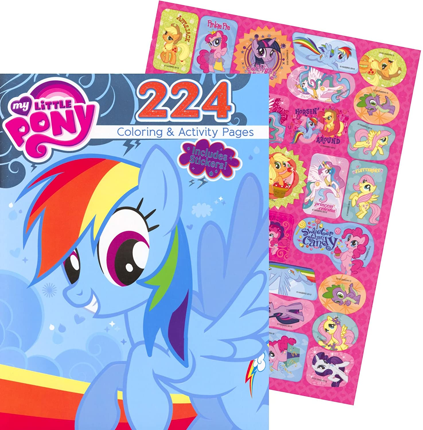 Amazon My Little Pony Giant Coloring And Activity Book With Stickers 224 Pages Toys Games